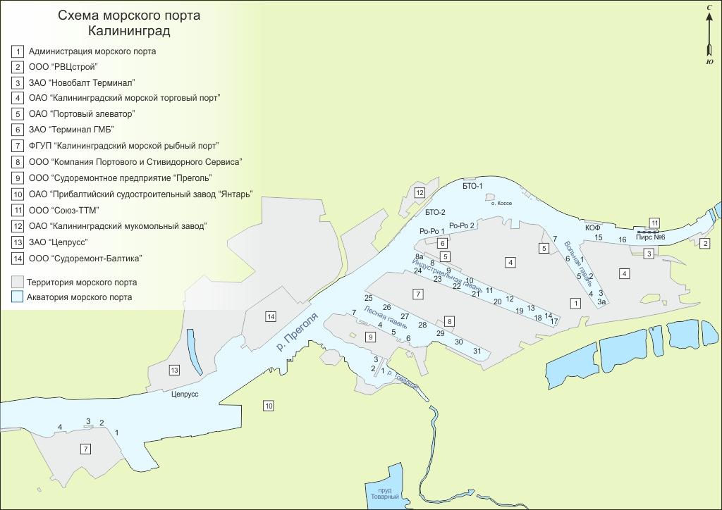 рыбалка в калининграде карта